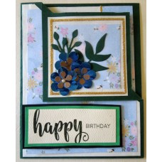 Happy birthday_3 small blue flowers_fun fold