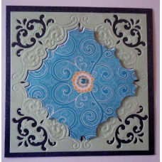 Blue dimentional centre_black cardstock