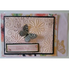 Thank you_grey butterfly_pink emboss