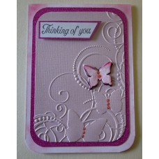 Thinking of you_pink embossed_butterflies