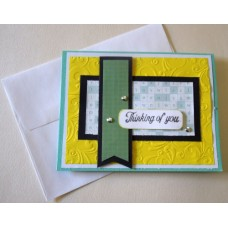 Thinking of you_yellow emboss_green strip